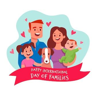 Ilustración con el día internacional de las familias