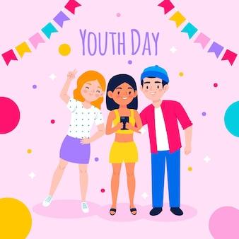 Ilustración del día internacional de la juventud