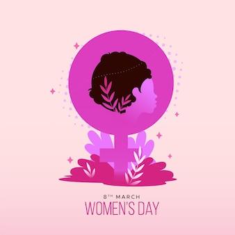 Ilustración del día internacional de la mujer con símbolo femenino