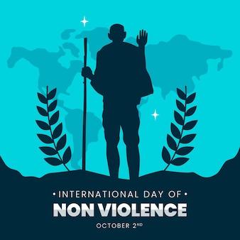 Ilustración del día internacional de la no violencia.