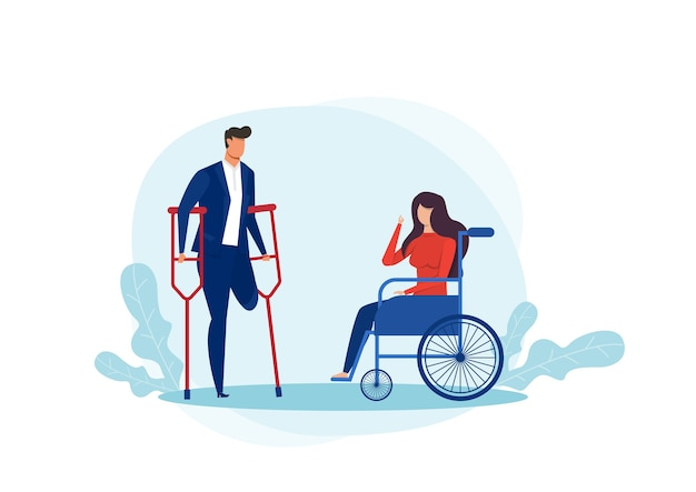 Ilustración del día internacional de las personas con discapacidad.