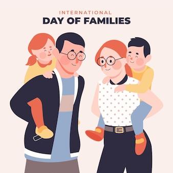 Ilustración del día internacional plano orgánico de las familias.