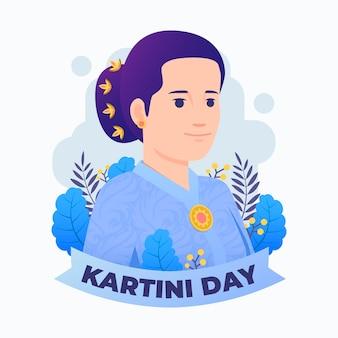 Ilustración del día de kartini