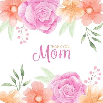 Ilustración del día de la madre acuarela pintada a mano Vector Premium