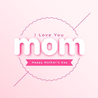 Ilustración del día de la madre en diseño de estilo minimalista