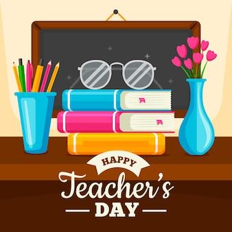 Ilustración del día del maestro