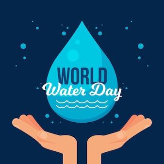 Ilustración del día mundial del agua