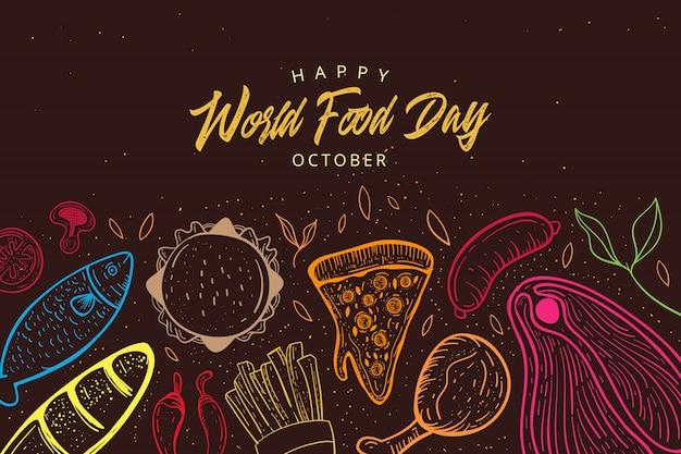 Ilustración del día mundial de la alimentación