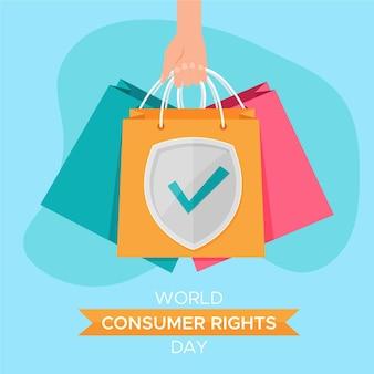 Ilustración del día mundial de los derechos del consumidor