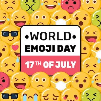 Ilustración del día mundial del emoji de dibujos animados