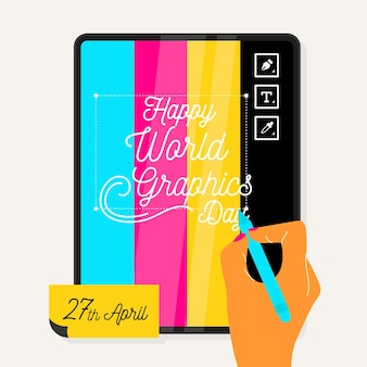 Ilustración del día mundial de los gráficos