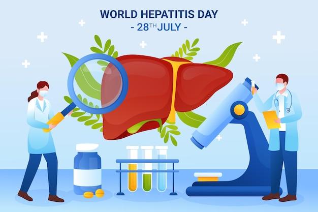 Ilustración del día mundial de la hepatitis gradiente