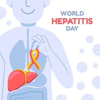 Ilustración del día mundial de la hepatitis