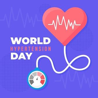 Ilustración del día mundial de la hipertensión