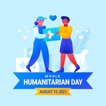 Ilustración del día mundial humanitario degradado