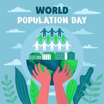 Ilustración del día mundial de la población
