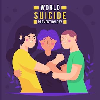 Ilustración del día mundial de prevención del suicidio