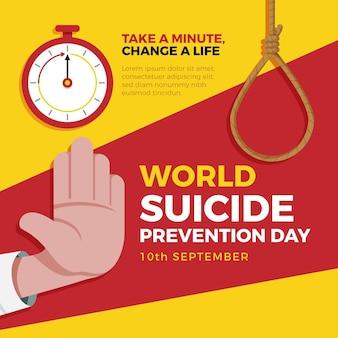 Ilustración del día mundial de la prevención del suicidio