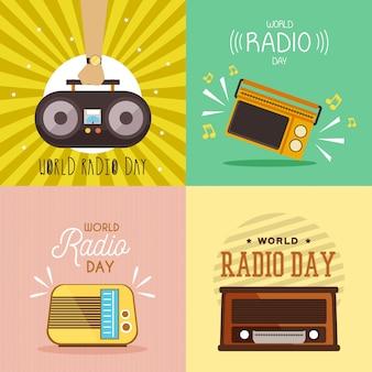 Ilustración del día mundial de la radio