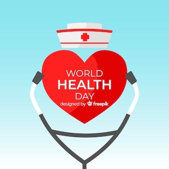 Ilustración del día mundial de la salud con equipo médico