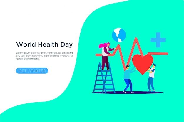 Ilustración del día mundial de la salud