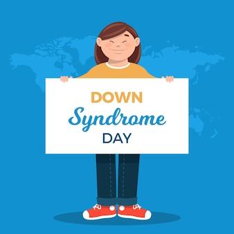Ilustración del día mundial del síndrome de down
