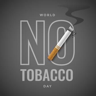 Ilustración del día mundial sin tabaco degradado