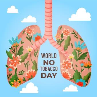 Ilustración del día mundial sin tabaco plano