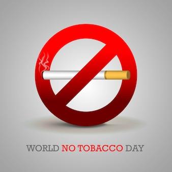Ilustración del día mundial sin tabaco