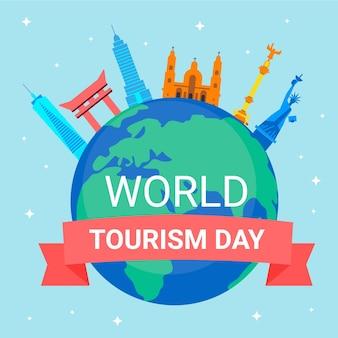 Ilustración del día mundial del turismo