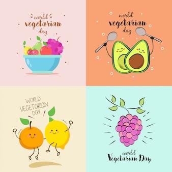 Ilustración del día mundial del vegetariano