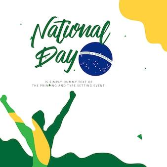 Ilustración del día nacional de brasil