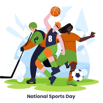 Ilustración del día nacional del deporte de indonesia