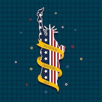 Ilustración del día nacional de la libertad