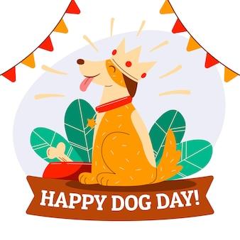 Ilustración del día nacional del perro