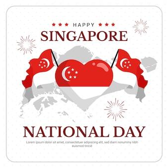 Ilustración del día nacional de singapur