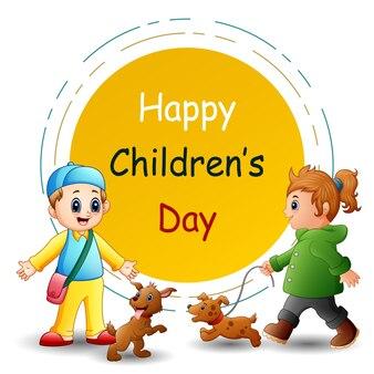Ilustración del día del niño feliz