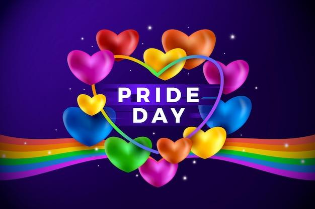 Ilustración del día del orgullo degradado