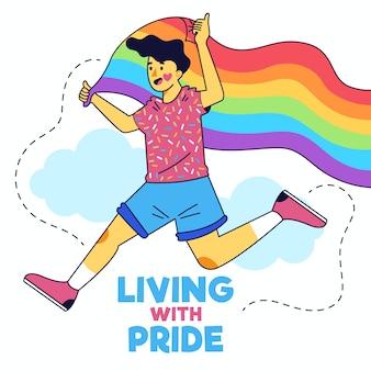 Ilustración del día del orgullo