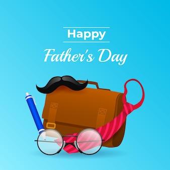 Ilustración del día del padre degradado