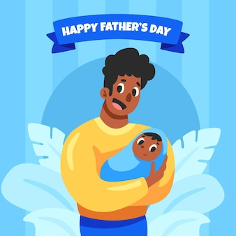 Ilustración del día del padre de dibujos animados