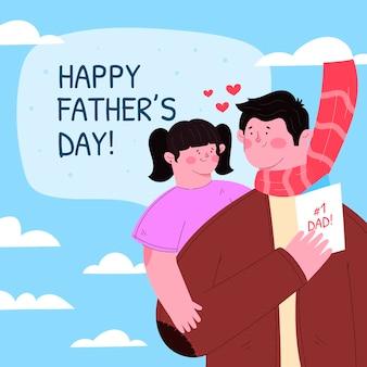 Ilustración del día del padre plano orgánico