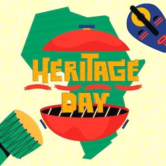 Ilustración del día del patrimonio