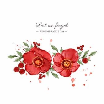 Ilustración del día del recuerdo de la acuarela