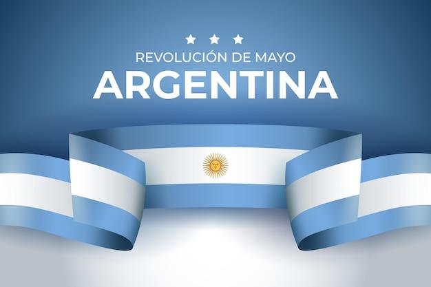 Ilustración de dia de la revolución de mayo argentino realista