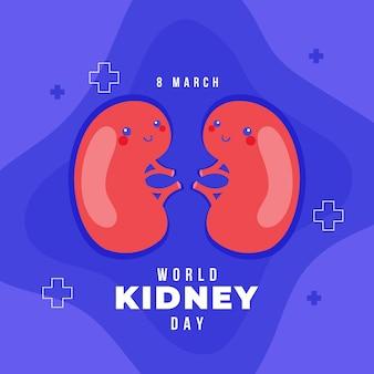 Ilustración del día del riñón
