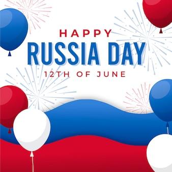 Ilustración del día de rusia degradado
