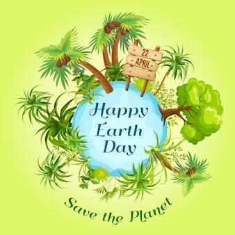 Ilustración del día de la tierra