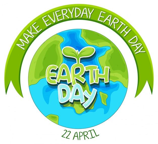 Una ilustración del día de la tierra