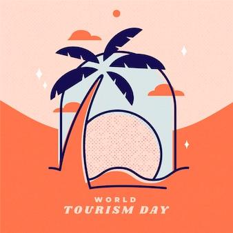 Ilustración del día del turismo dibujado a mano